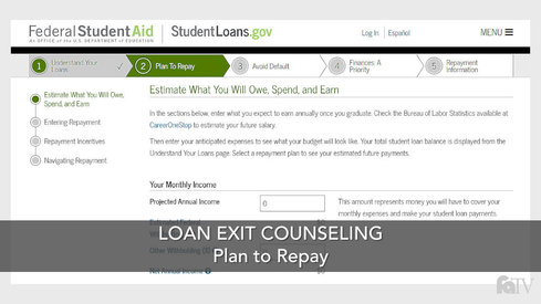 Loan Exit Counseling – Plan to Repay