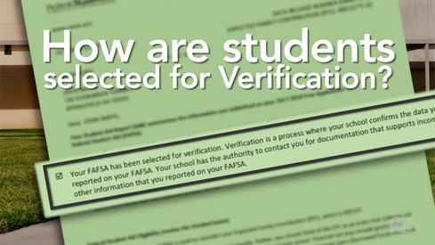 How are students selected for Verification?