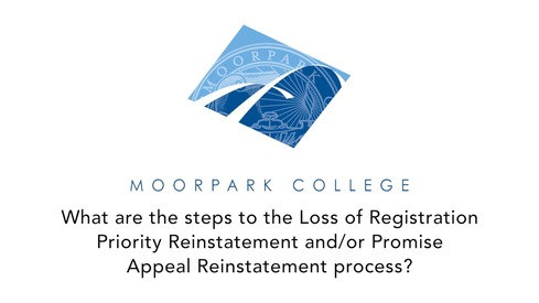 What are the steps to the Loss of Registration Priority Reinstatement and/or Promise Appeal Reinstatement process?