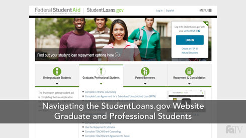 Navigating the Studentloans.gov Website: Graduate/Professional Students