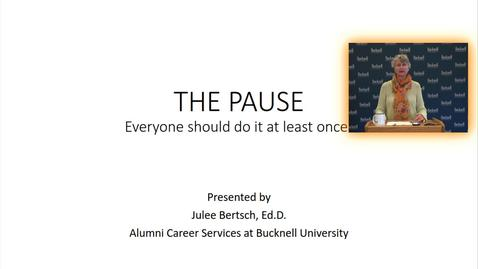 Thumbnail for entry BU360 The Pause
