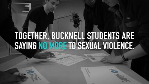 Thumbnail for entry Bucknell says NO MORE to sexual violence