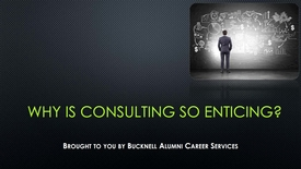 Thumbnail for entry Why is Consulting So Enticing?