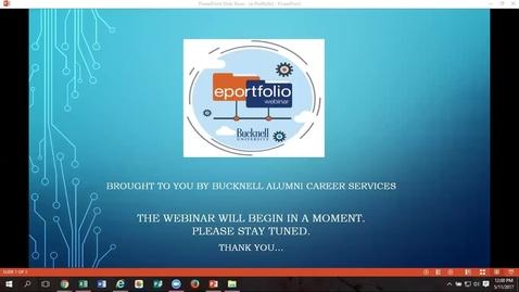 Thumbnail for entry ePortfolios