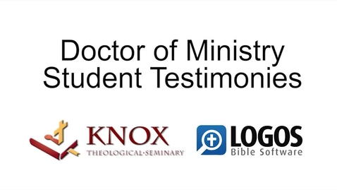 DMin Student Testimonies Video