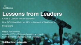 Thumbnail for entry Lessons From Leaders - Old Dominion University