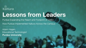 Thumbnail for entry Lessons From Leaders - Purdue University