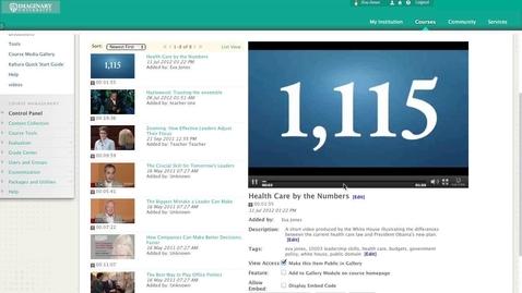 Thumbnail for entry Kaltura Building Block for Blackboard - Video Walkthrough
