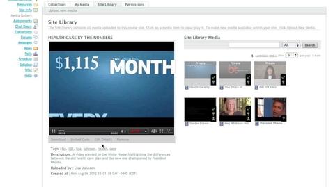 Thumbnail for entry Kaltura Video Tool for Sakai - Video Walkthrough