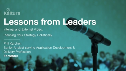 Thumbnail for entry Lessons From Leaders - Forrester