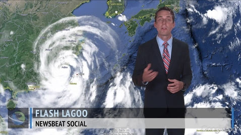 Thumbnail for entry Typhoon Trami Heads for China