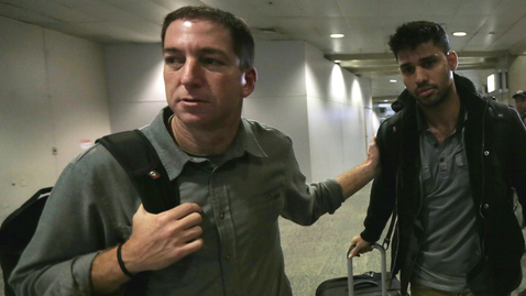 Thumbnail for entry Journalist Glenn Greenwald's Partner Detained in London