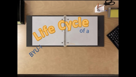 Thumbnail for entry Life Cycle of an Online Course