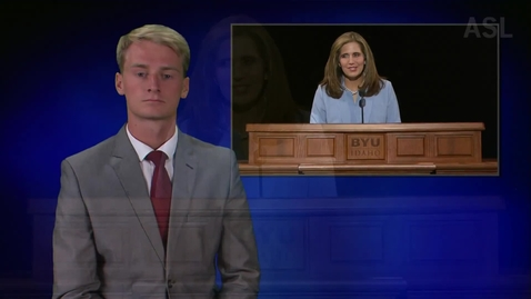 "Thumbnail for entry ASL: President and Sister Eyring - ""Gaining and Strengthening a Testimony"" and ""Picking Up a Testimony"""