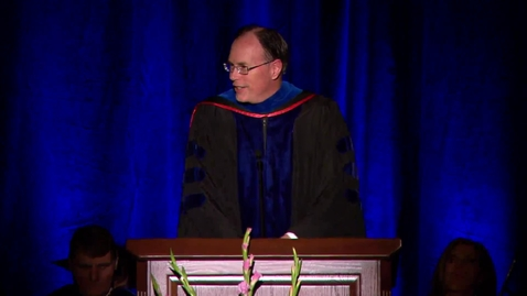 """Thumbnail for entry W. Christopher Waddell - """"Language & Letters College Convocation Remarks"""""""