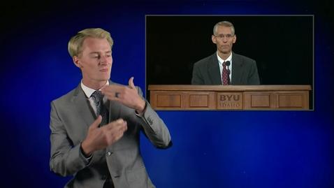 """Thumbnail for entry ASL: Kevin Galbraith - """"Faith and Family"""""""