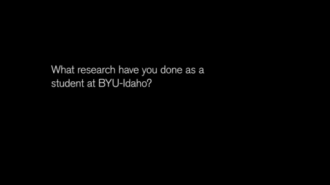 Thumbnail for entry Elizabeth Eaton: BYU-Idaho Student Learning Outcomes Project.