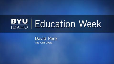 "Thumbnail for entry David Peck - ""The CTR Circle"""