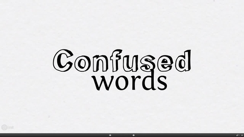 Thumbnail for entry Confused Words
