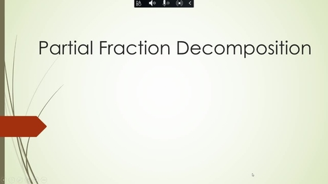 Thumbnail for entry MATH 109 - Partial Fraction Decomposition Part 1