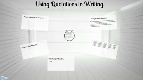 Thumbnail for entry Integrating Quotations