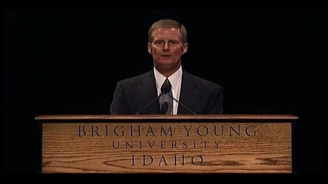 """Thumbnail for entry David A. Bednar - """"Who's on the Lord's Side? Now is the Time to Show"""""""