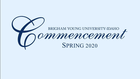 Thumbnail for entry Commencement Loop - Spring 2020