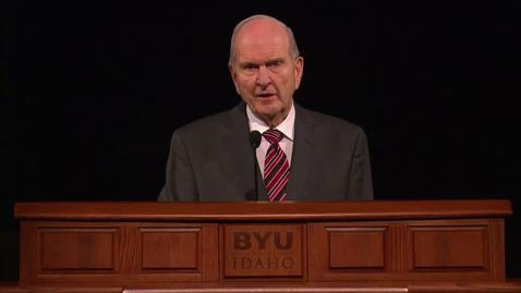 "Thumbnail for entry Russell M. Nelson - ""The Lord Uses the Unlikely to Accomplish the Impossible"""