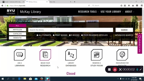 Thumbnail for entry Search Bar on Library Homepage