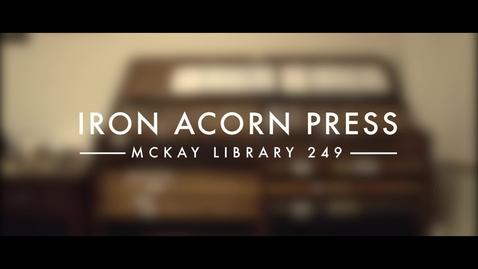 Thumbnail for entry Iron Acorn Press