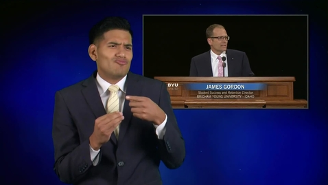 "Thumbnail for entry ASL: James Gordon - ""Always Remember"""