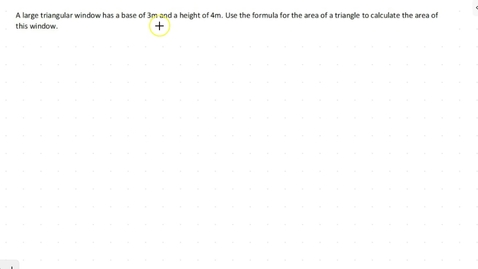Thumbnail for entry Lesson 4 - Area of a Triangle #6