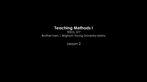 Thumbnail for entry TESOL 377 The Affective Domain and Foreign Language Instruction Video