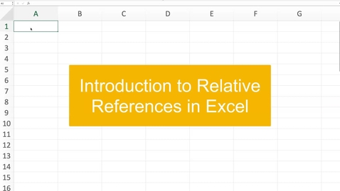 Thumbnail for entry Introduction to relative references in Excel