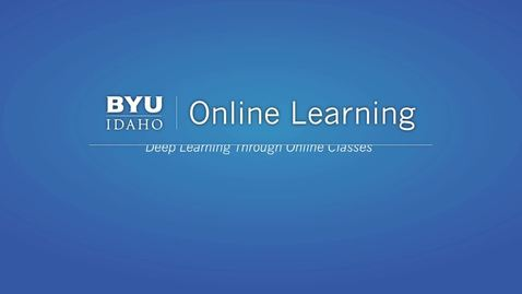 Thumbnail for entry Taking online classes