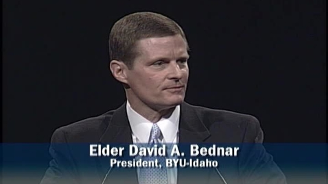 """Thumbnail for entry David A. Bednar """"In a State of Happiness (Mormon 7:7)"""""""