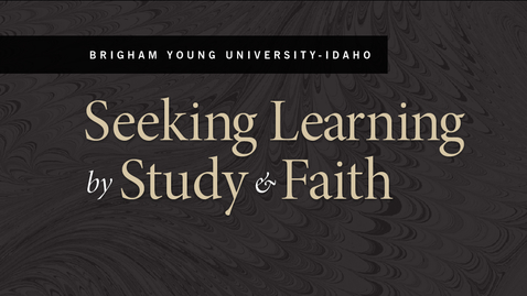 Thumbnail for entry Seeking Learning by Study & Faith