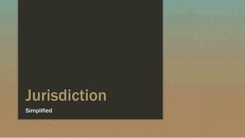 Thumbnail for entry Jurisdiction