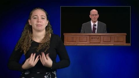 "Thumbnail for entry ASL: President Henry J. Eyring - ""Not Blind Faith, but Big Faith"""