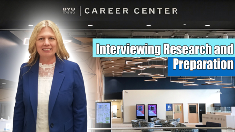 Thumbnail for entry Interviewing Research and Preparation