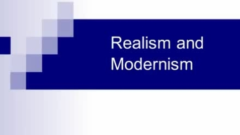 Thumbnail for entry Realism and Modernism 1