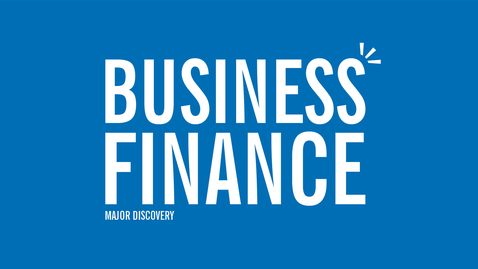 Thumbnail for entry Major Discovery: Business Finance