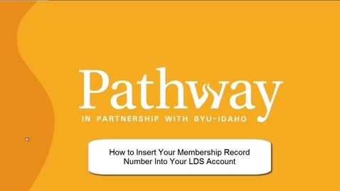 Thumbnail for entry How to Input a Membership Record Number Into an LDS Account