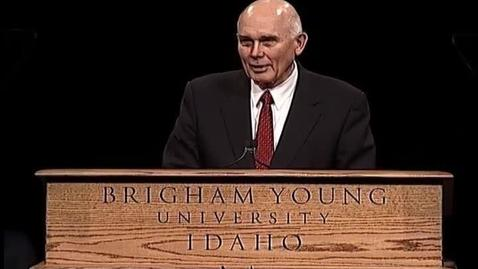 """Thumbnail for entry Dallin H. Oaks """"Be Wise"""""""