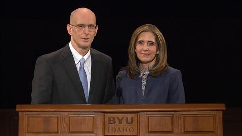 "Thumbnail for entry President Henry J. and Kelly Eyring - ""Natural Leaders at BYU-Idaho"""