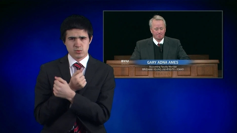 """Thumbnail for entry ASL: Gary Adna Ames - """"Safety in Prophetic Counsel"""""""