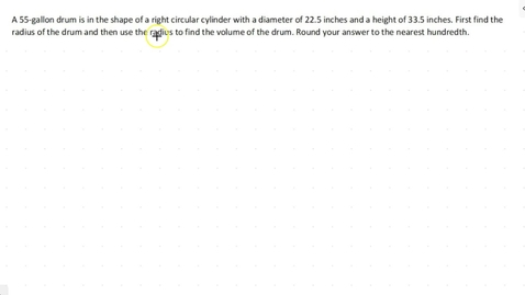 Thumbnail for entry Lesson 5 - Volume of a Right Circular Cylinder #4