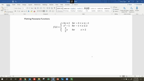 Thumbnail for entry MATH 109 - Graphing Piecewise Functions