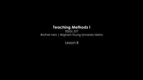 Thumbnail for entry TESOL 377 The Silent Way Classroom Video