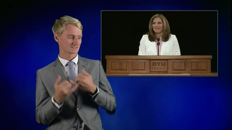 "Thumbnail for entry ASL: Sister Kelly Eyring - ""Envision Success"""
